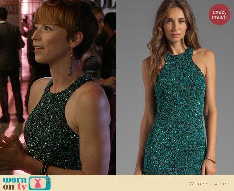 Revenge Fashion: Parker Mariah Sequin Dress worn by Karine Vanasse