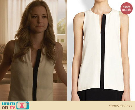 Fashion of Revenge: Proenza Schouler Two Tone top worn by Emily VanCamp