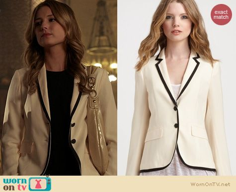 Revenge Fashion: Rag & Bone Bailey Blazer in Beige worn by Emily Vancamp