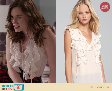 Revenge Fashion: Rebecca Taylor Ruffle blouse worn by Christa Allen