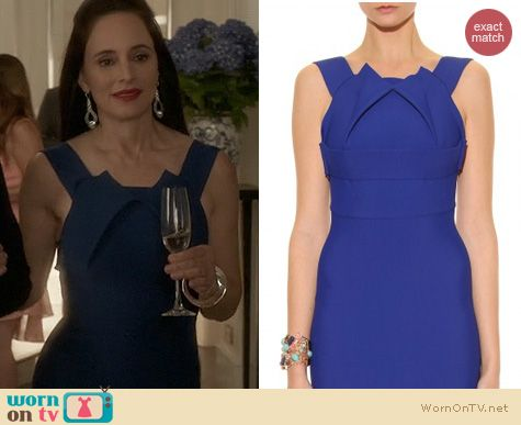 Fashion of Revenge: Roland Mouret Bronte Stretch Dress worn by Madeleine Stowe