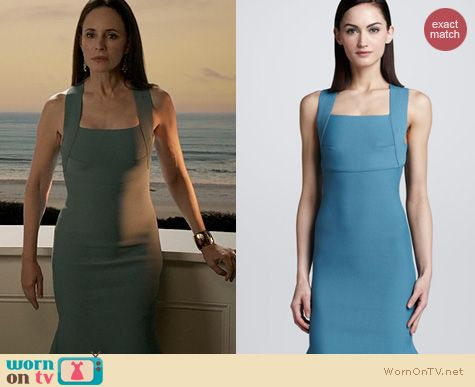 Revenge Fashion: Roland Mouret Brooks Scuba knit dress worn by Madeleine Stowe