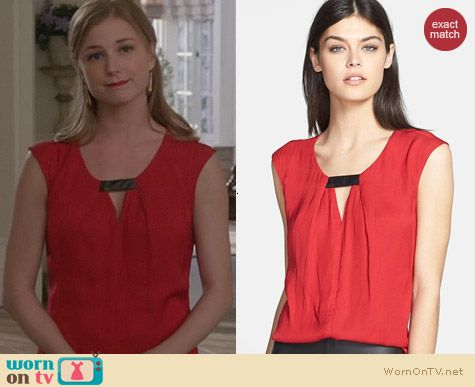 Fashion of Revenge: Trouve Front Keyhole Top worn by Emily VanCamp