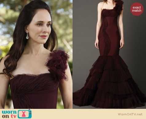 Fashion of Revenge: Vera Wang Kaye Gown worn by Victoria Grayson