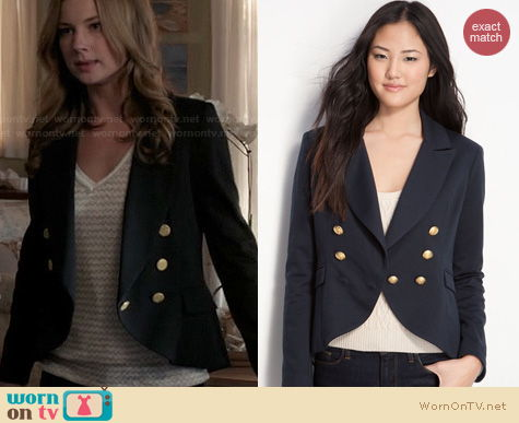 Revenge Fashion: Willow & Clay Fishtail Blazer worn by Emily VanCamp