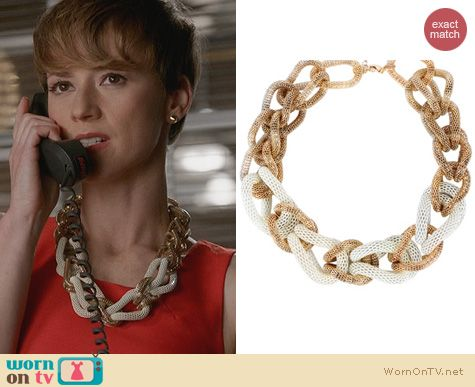 Revenge Jewelry: Aldo Beemer Necklace worn by Karine Vanasse