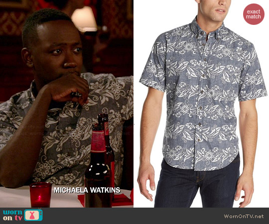 Reyn Spooner Maupiti Express Shirt worn by Lamorne Morris on New Girl