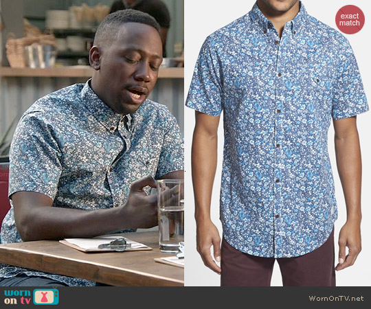 Rip Curl Flowerland Shirt worn by Lamorne Morris on New Girl
