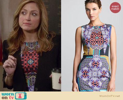 Rizzoli & Isles Fashion: Etro Sleevless sheath dress worn by Sasha Alexander
