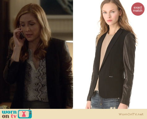 Rizzoli & Isles Fashion: Rag & Bone Sliver jacket worn by Sasha Alexander