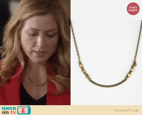 Rizzoli & Isles Fashion: Vanessa Mooney Nugget Bar Necklace worn by Sasha Alexander