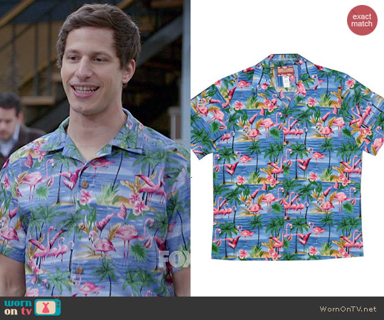 RJC Flamingo Orchid Shirt worn by Andy Samberg on Brooklyn Nine-Nine