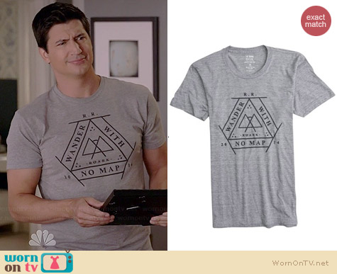 Roark Wander Tee worn by Ken Marino on Marry Me