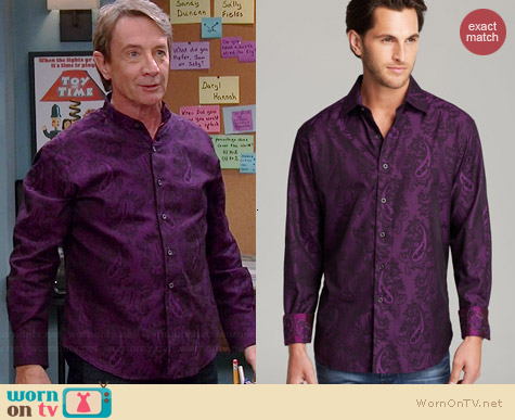 Robert Graham Copperhead Jacquard Paisley Sport Shirt worn by Martin Short on Mulaney