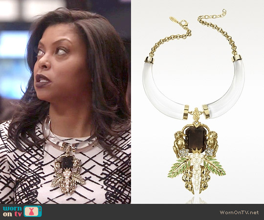 Roberto Cavalli Monkey Necklace worn by Cookie Lyon on Empire