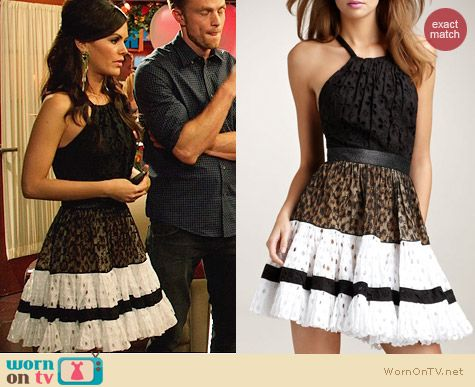 Roberto Cavalli Open Back Tiered Dres worn by Rachel Bilson on Hart of Dixie