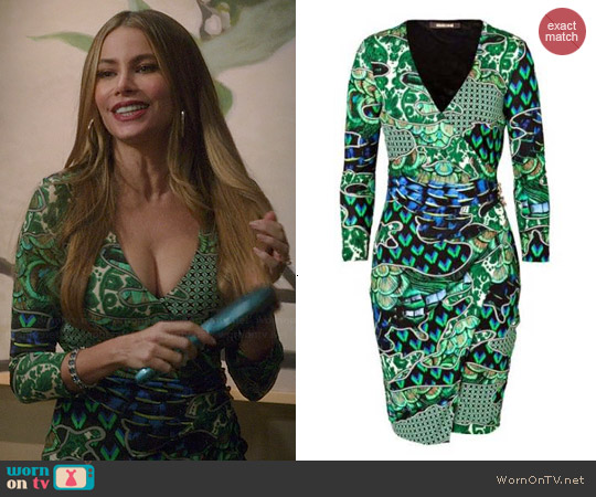 Roberto Cavalli Printed Jersey Dress worn by Sofia Vergara on Modern Family