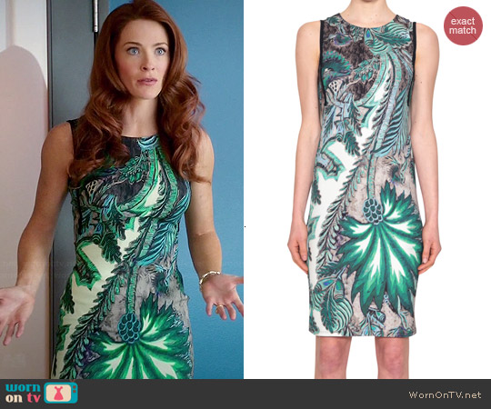 Roberto Cavalli Viscose Printed Dress worn by Bridget Regan on Jane the Virgin