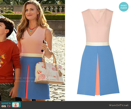 Roksanda Colorblock Crepe Dress worn by Brooke D'Orsay on Royal Pains