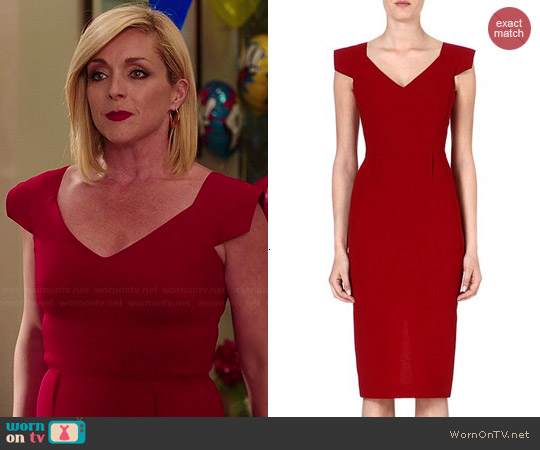 Roland Mouret Atria Dress worn by Jane Krakowski on Unbreakable Kimmy Schmidt