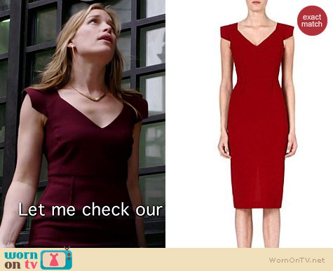 Roland Mouret Atria Wool Dress worn by Piper Perabo on Covert Affairs