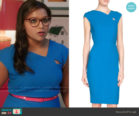 Roland Mouret Barkis Dress worn by Mindy Kaling on The Mindy Project