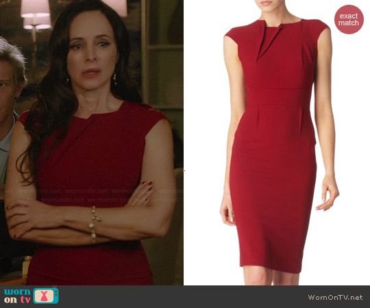 Roland Mouret Brownlow Dress worn by Madeleine Stowe on Revenge