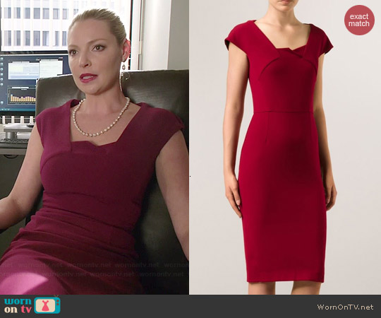 Roland Mouret Hirta Dress worn by Katherine Heigl on State of Affairs