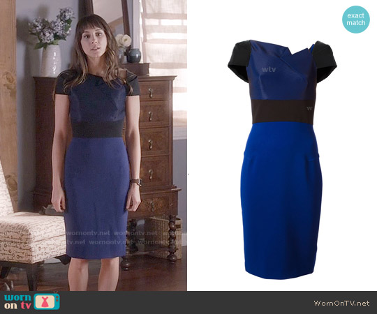 Roland Mouret Lepas Dress worn by Troian Bellisario on PLL