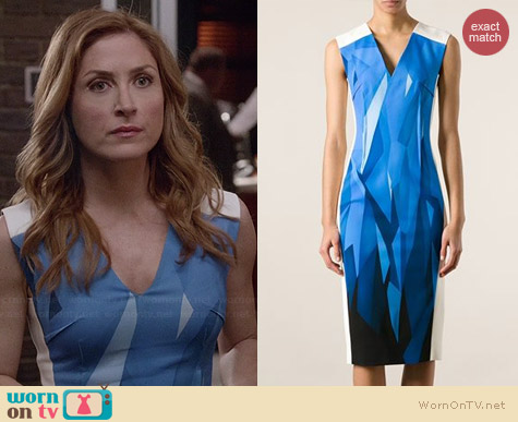 Roland Mouret Wezen Dress worn by Sasha Alexander on Rizzoli & Isles