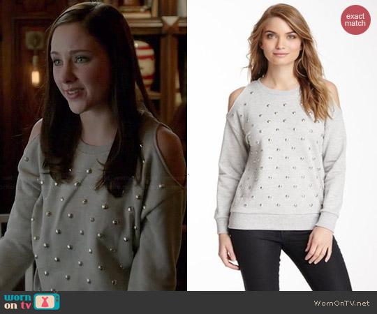 Romeo & Juliet Couture Studded Sweater worn by Haley Ramm on Chasing Life