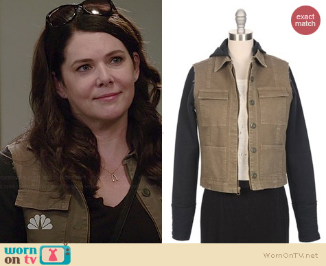 Ron Herman Fleece Sleeve Hooded Cargo Jacket worn by Lauren Graham on Parenthood