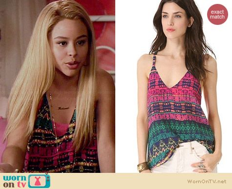 Rory Beca Dede Open Back Camisole worn by Cierra Ramirez on The Fosters