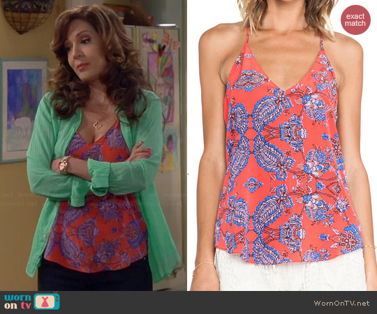 Rory Beca Scala Tank in Kos worn by Maria Canals-Barrera on Cristela