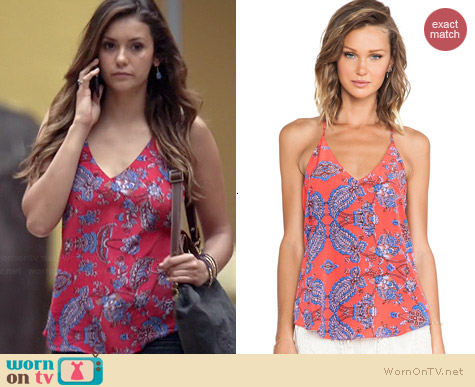 Rory Beca Scala Tank in Kos worn by Nina Dobrev on The Vampire Diaries