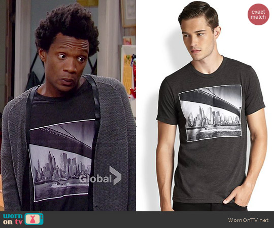 Rosser Riddle Brooklyn Bridge Tee worn by Seaton on Smith on Mulaney