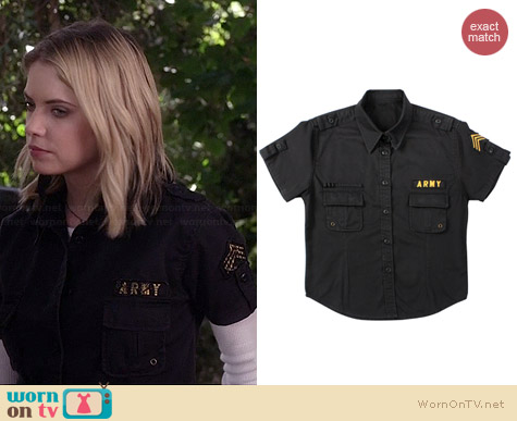 Rothco BDU Shirt with Patches worn by Ashley Benson on PLL