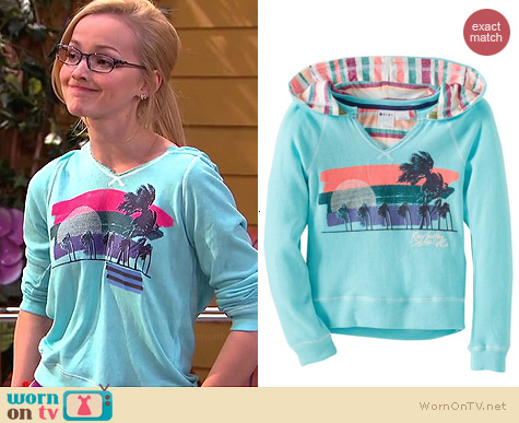 Roxy Crush Crush Hoodie worn by Dove Cameron on Liv & Maddie