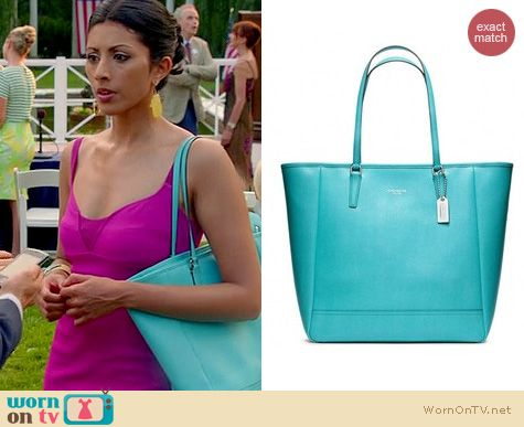 Royal Pains Bags: Coach North South City Tote worn by Reshma Shetty