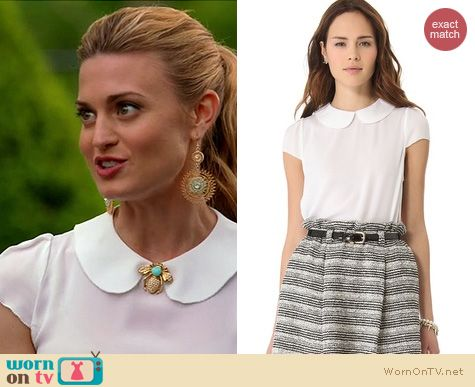Royal Pains Fashion: Alice & Olivia Ezette top worn by Brook D'Orsay