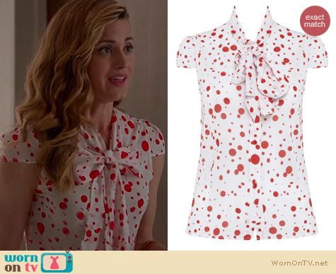 Royal Pains Fashion: Alice + Olivia Zuzu blouse worn by Brooke D'Orsay