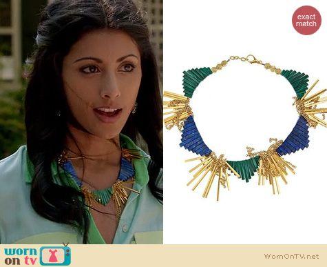Royal Pains Fashion: Gemma Redux Hesse necklace worn by Reshma Shetty