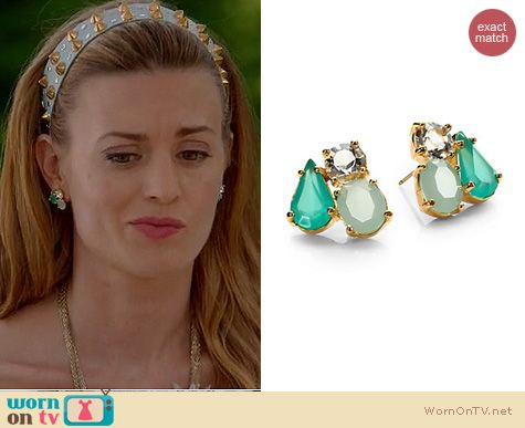 Royal Pains Fashion: Kate Spade Cluster Earrings worn by Brooke D'Orsay