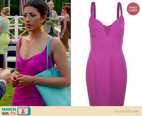 Royal Pains Fashion: Narciso Rodriguez Fuchsia dress worn by Reshma Shetty