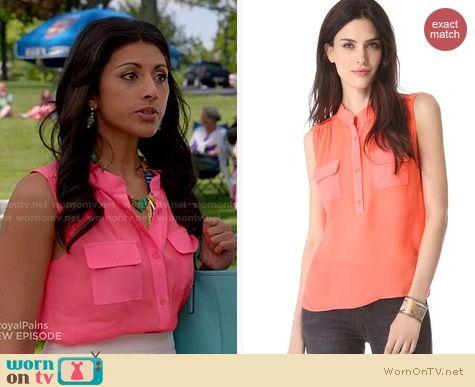 Royal Pains Fashion: Parker Sawyer top worn by Reshma Shetty