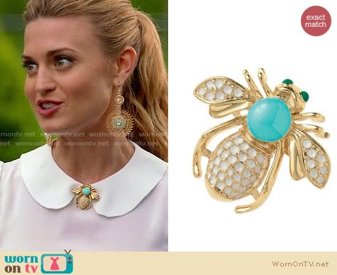 Royal Pains Fashion: Stella & Dot Bee Brooch worn by Brooke D'Orsay