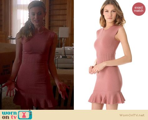 Royal Pains Fashion: Torn by Ronny Kobo Poppy Crocodile dress worn by Brooke D'Orsay