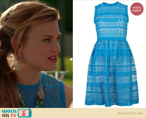 Royal Pains Fashion: Yigal Azrouel Venice Geo Lace dress worn by Brook D'Orsay