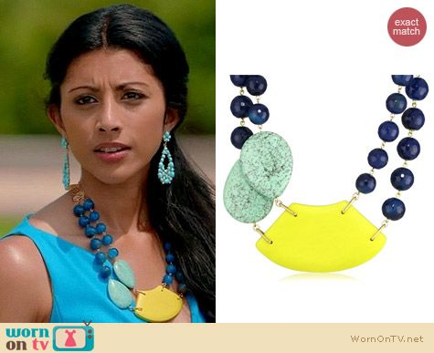 Royal Pains Jewellery: David Aubrey Lauren Necklace worn by Divya