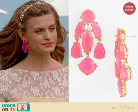 Royal Pains Jewelry Kate Spade Pink Statement Chandelier Earrings Worn By Brooke D Orsay